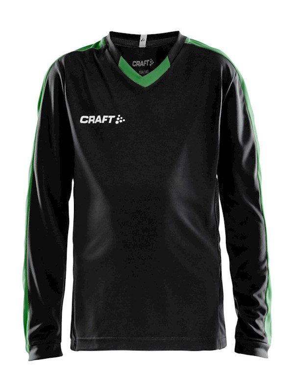 Craft Progress contrast jersey LS jr bla/team gr 134/140