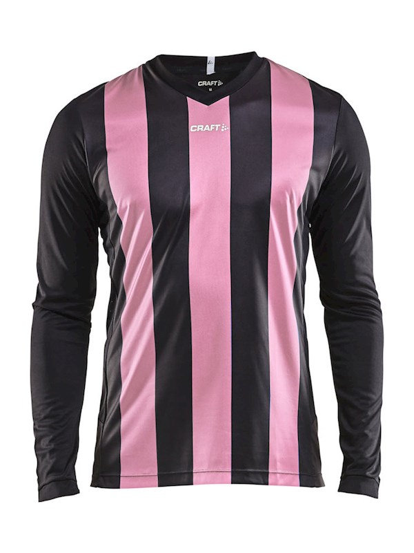 Craft Progress stripe jersey LS men black/pop xxl
