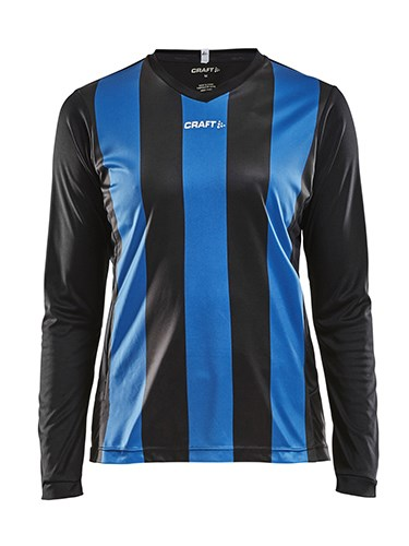 Craft Progress stripe jersey LS wmn black/royal m