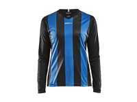 Craft Progress stripe jersey LS wmn black/royal xl