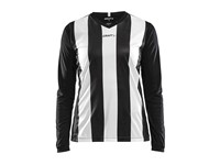 Craft Progress stripe jersey LS wmn black/white xl
