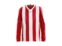 Craft Progress stripe jersey LS jr br.red/white 134/140