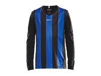 Craft Progress stripe jersey LS jr black/cl co 134/140