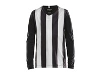 Craft Progress stripe jersey LS jr black/white 158/164