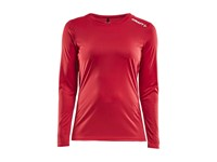 Craft Rush LS tee wmn bright red m