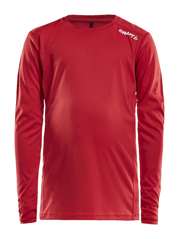 Craft Rush LS tee jr bright red 146/152
