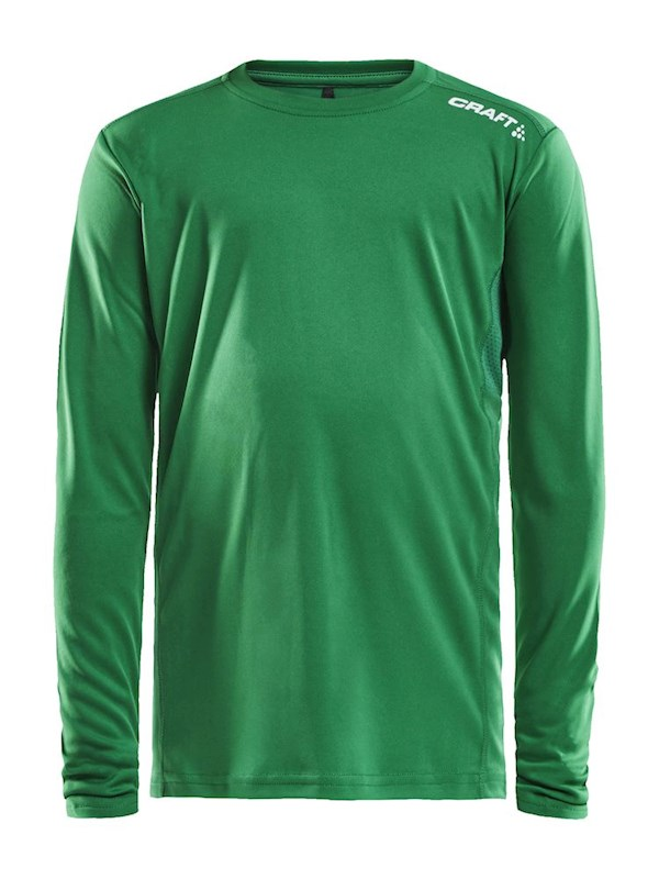 Craft Rush LS tee jr team green 146/152