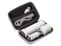 Reisset- Powerbank, stekker en USB charger