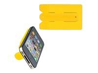 Smartphone kaathouder met geintegreerde standaard.