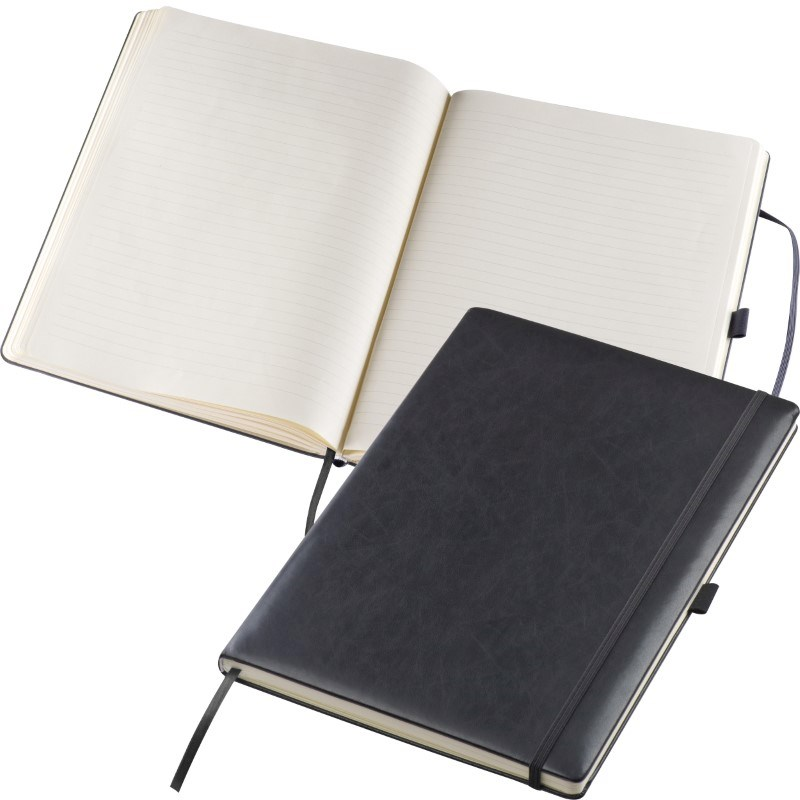 A4 notitieboek met gelinieerd papier en elastiek