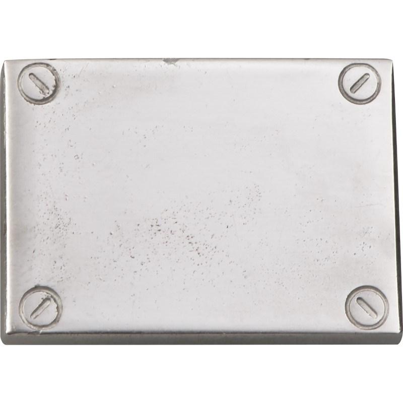 Klik plaatje zilver kleurig kunststof voor calculator