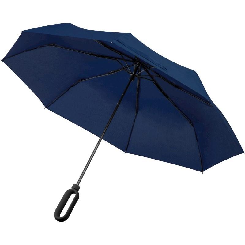 Paraplu met greep als karabijnhaak
