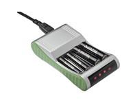 Batterijlader voor 4 batterijen