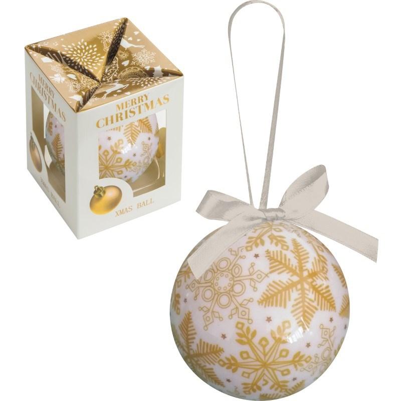 Kunststof kerstbal in verpakking