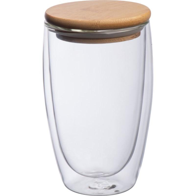Dubbelwandig glas met inhoud 500 ml