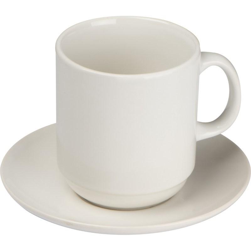 Koffiekopje met schotel