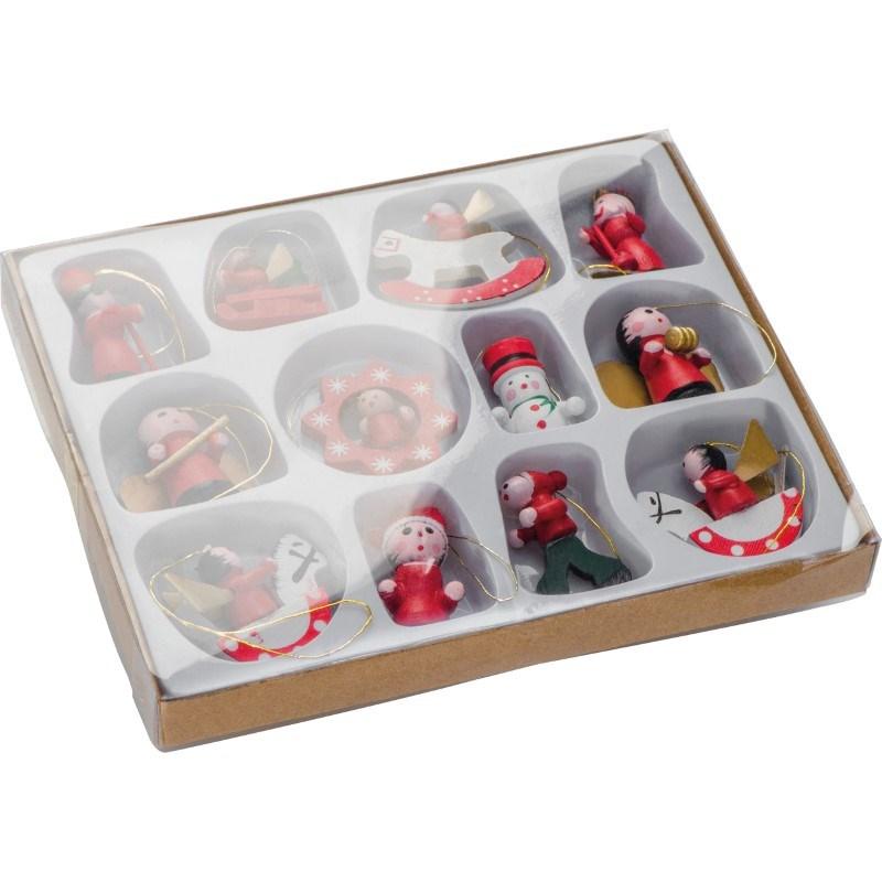 12-delige set kerstboomhangers