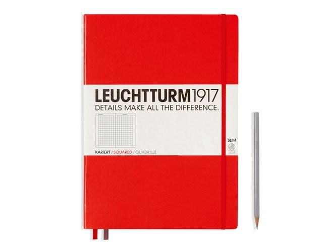 Leuchtturm1917 Hardcover Notitieboek,Master Slim, geruit