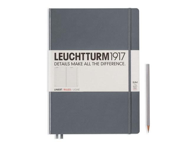 Leuchtturm1917 Hardcover Notitieboek,Master Slim,gelinieerd