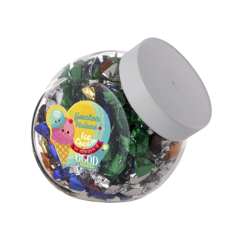 Medium glazen pot 0,9 liter