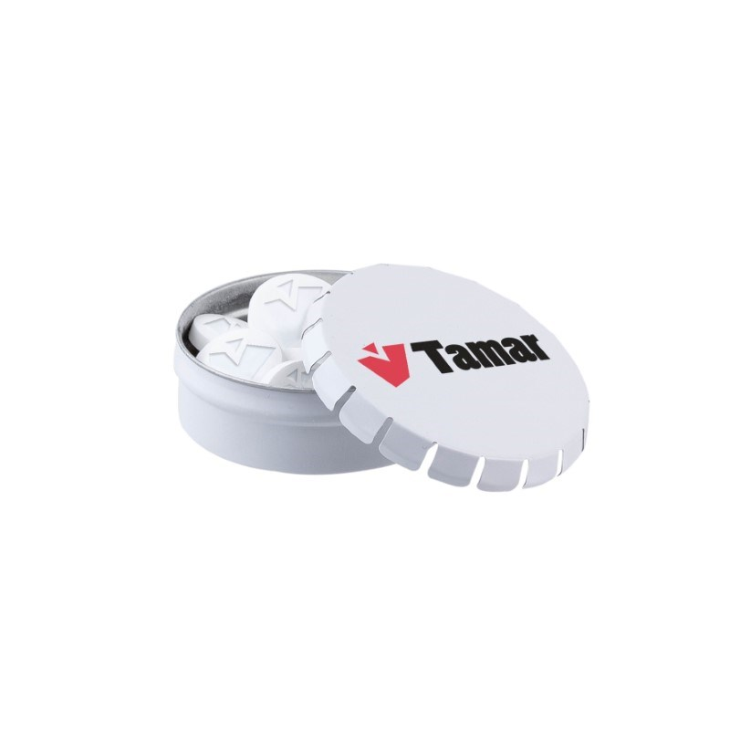 Mini clic-clac blikje logo mints