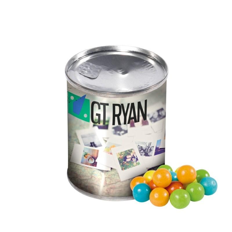 Blikje kauwgomballen