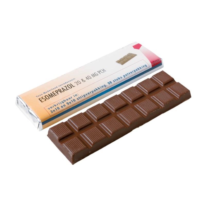 Reep chocolade in wikkel