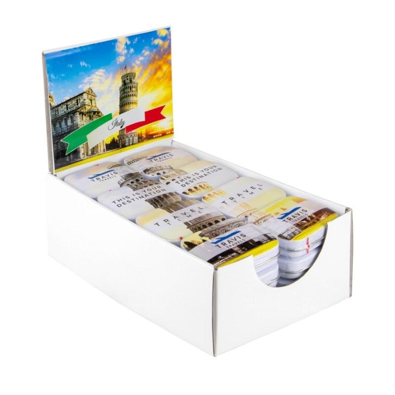 Display doos met eigen ontwerp blikjes en sticker