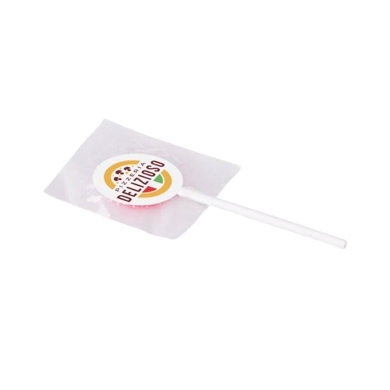 Lolly met sticker