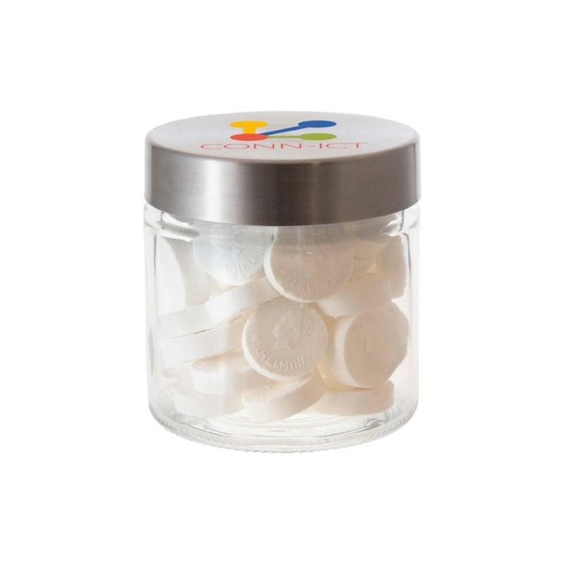 Glazen pot met RVS deksel 0,35 liter