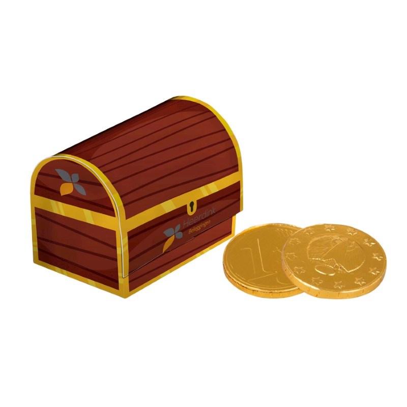 Schatkist chocolade munten