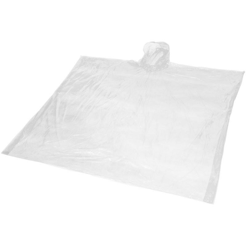 Ziva wegwerp regenponcho met opbergtasje