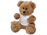 Knuffel zittende beer met t-shirt