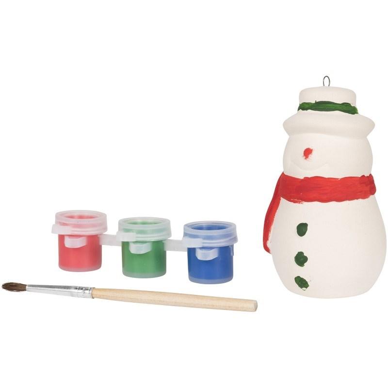 Beschilder een sneeuwpop