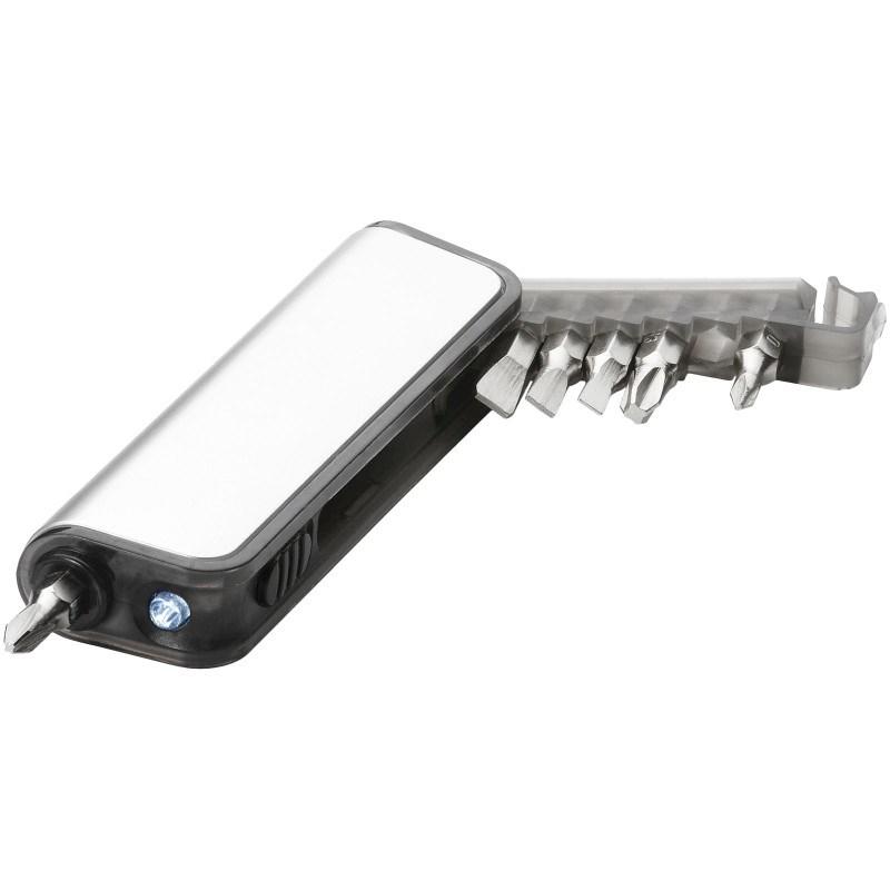 Reno mini gereedschapsset met 7 functies en LED zaklamp