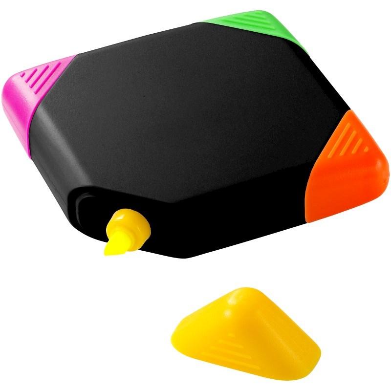 Trafalgar vierkante markeerstift met 4 kleuren
