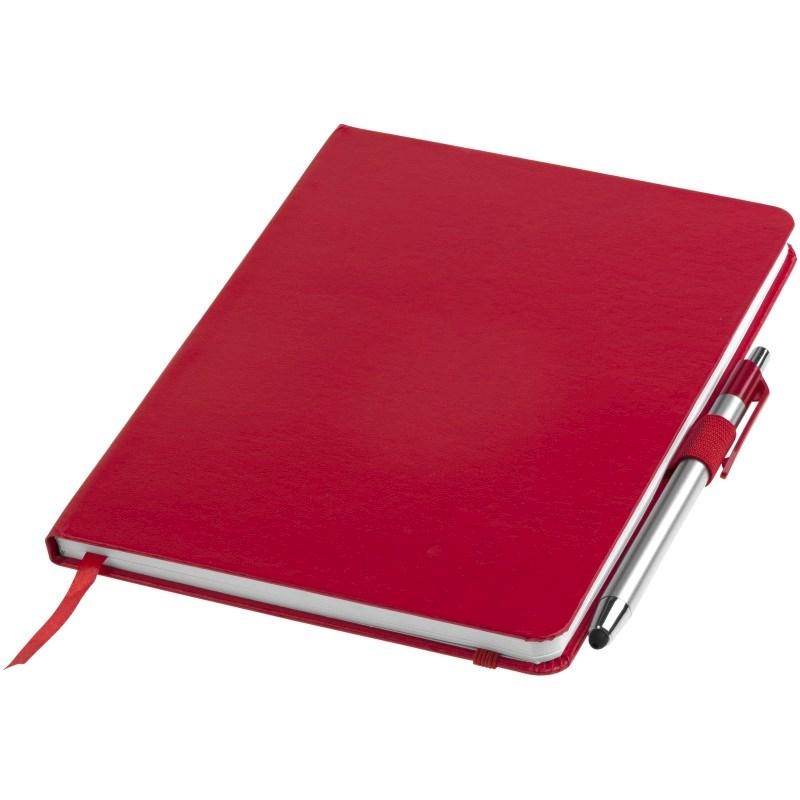 Crown A5 notitieboek met stylus balpen