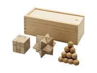 3 delig houten denkspel