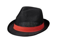 Trilby hoed met lint