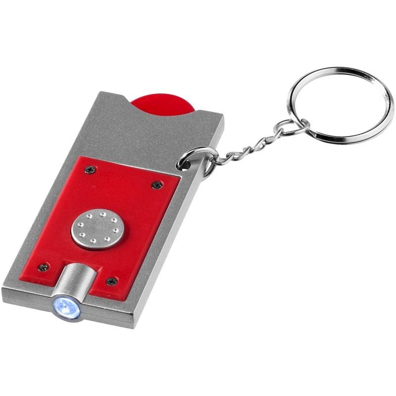 Allegro LED sleutelhanger met munthouder en lampje
