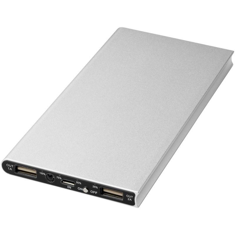 Plate 8000 mAh aluminium powerbank