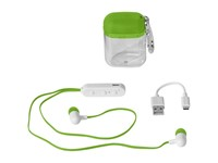 Budget Bluetooth® oordopjes in cassette met karabijnhaak