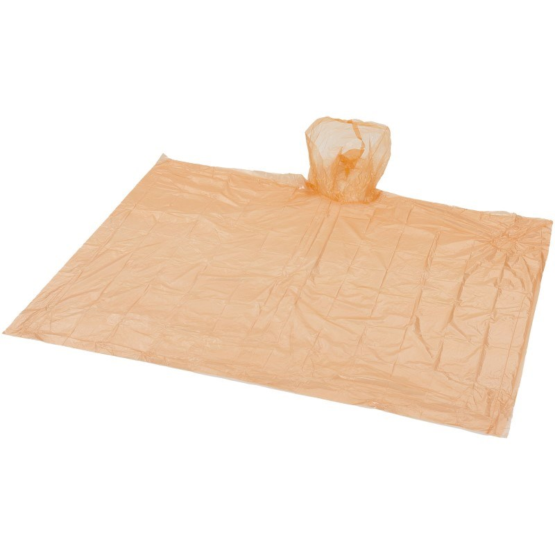 Huko wegwerp regenponcho met opbergtasje