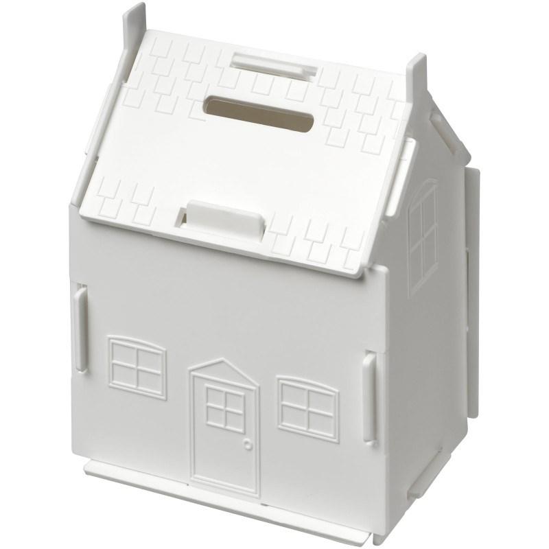 Uri kunststof spaarpot in de vorm van een huis