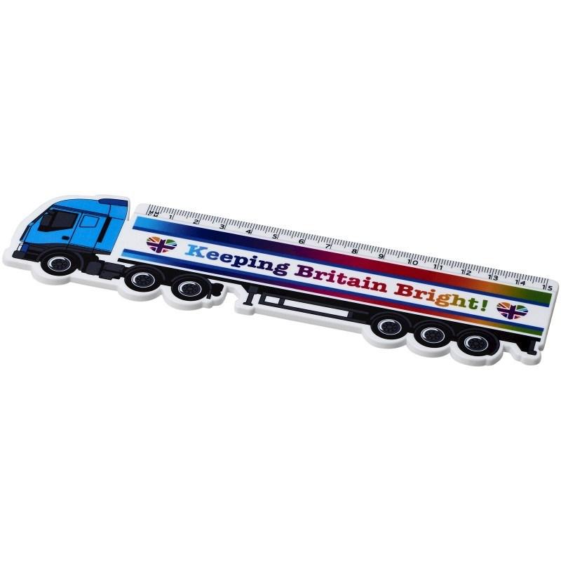Loki 15 cm kunststof liniaal in vrachtwagenvorm