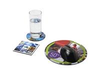 Q-Mat® driedelige combiset van muismat en onderzetter 4