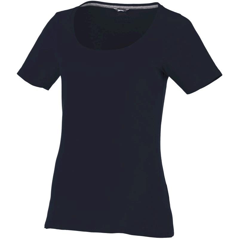 Bosey dames t-shirt met lage ronde hals en korte mouwen