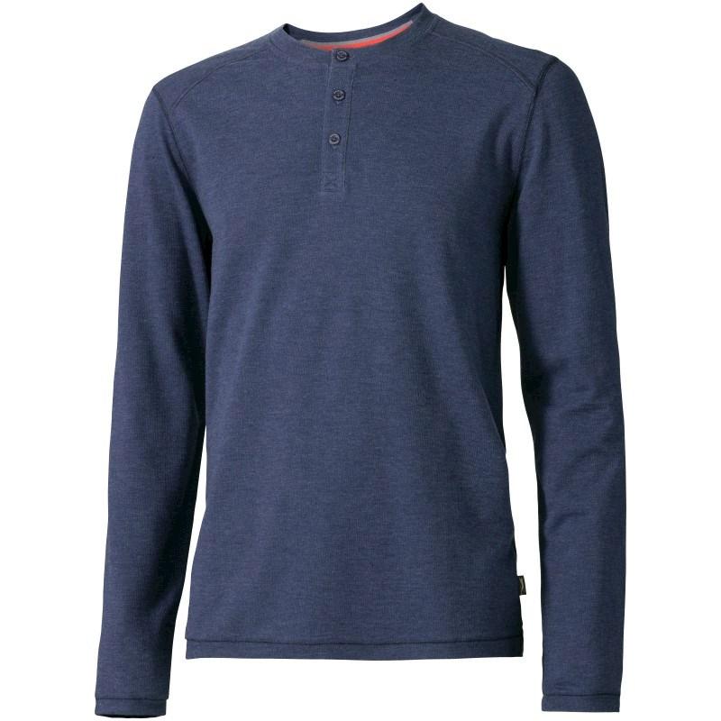 Touch heren shirt met henley kraag en lange mouwen