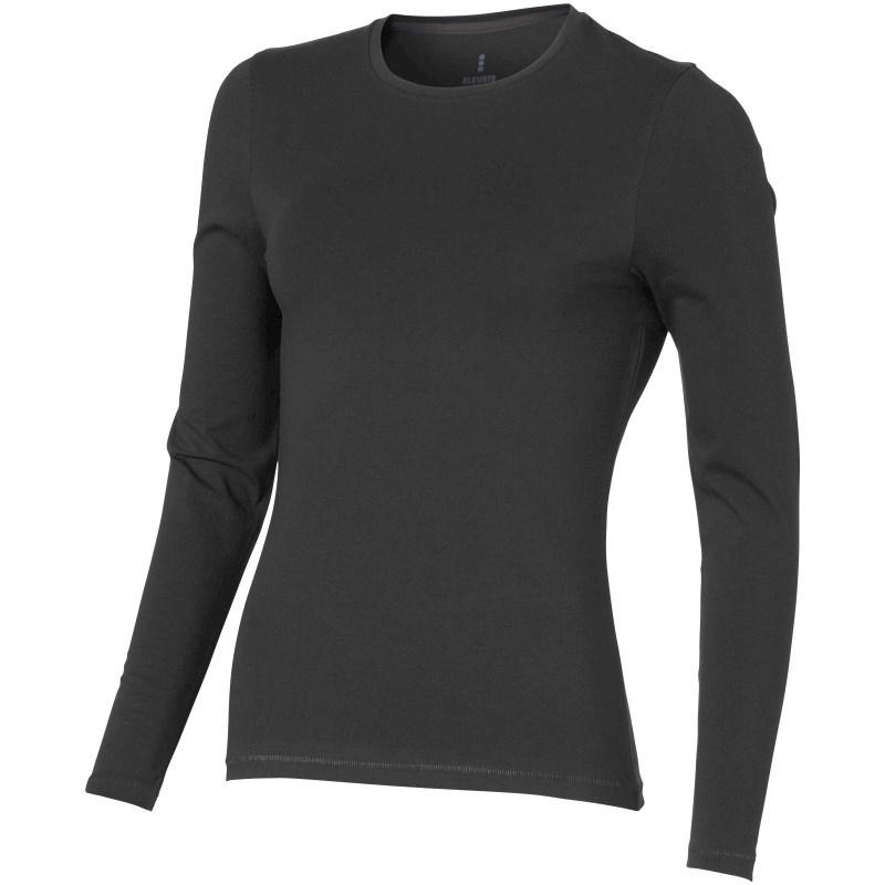 Ponoka organisch dames t-shirt lange mouwen