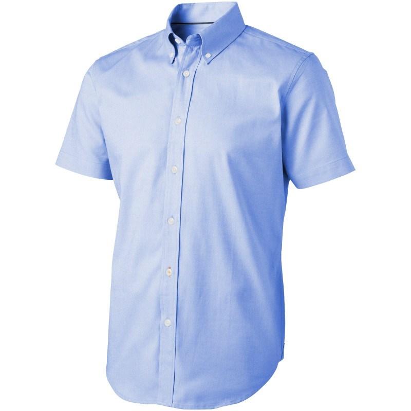 Manitoba oxford heren overhemd met korte mouwen
